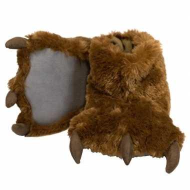 Dierenpoot pantoffels bruine beer kinderen