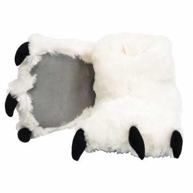 Dierenpoot pantoffels ijsbeer kinderen