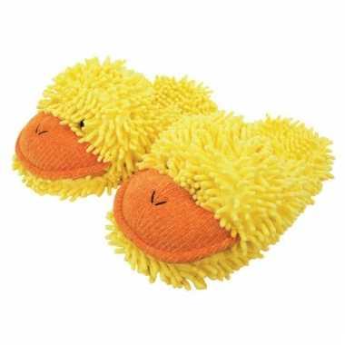 Gele eend pantoffels dames