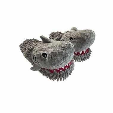 Grijze haai pantoffels dames
